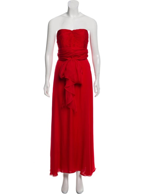 Valentino Silk Evening Dress Red