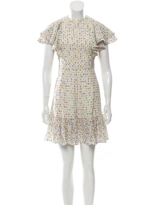 Valentino Silk Mini Dress Cream