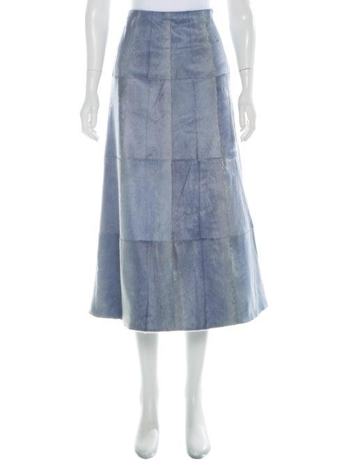 Valentino Midi Length Skirt Blue
