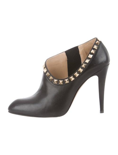 Valentino Rockstud Leather Booties Black