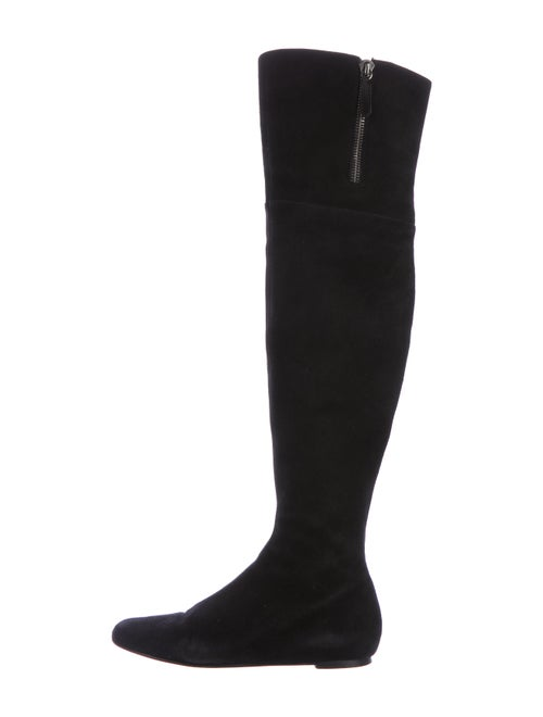 Valentino Suede Over -The-Knee Boots Black