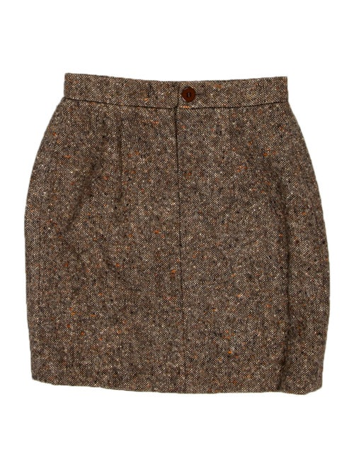 Valentino Tweed Pattern Mini Skirt