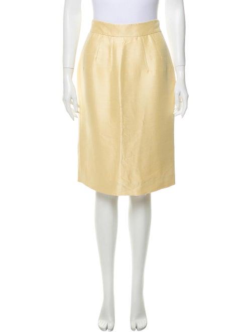 Valentino Knee-Length Skirt Yellow
