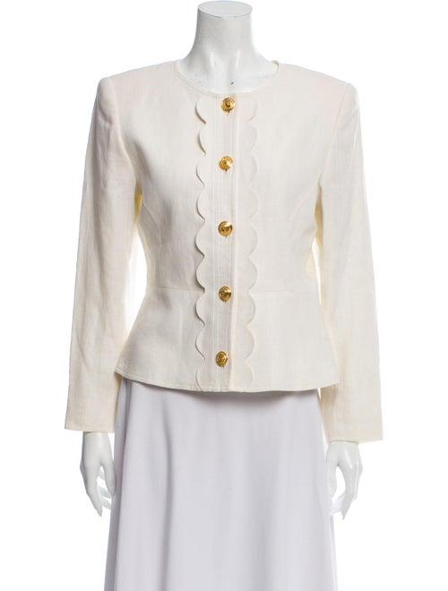 Valentino Vintage Linen Evening Jacket
