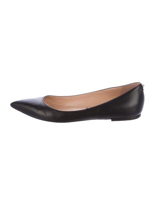 Valentino Leather Ballet Flats Black