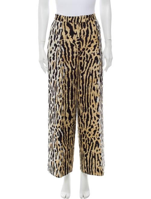 Valentino Animal Print Wide Leg Pants - image 1