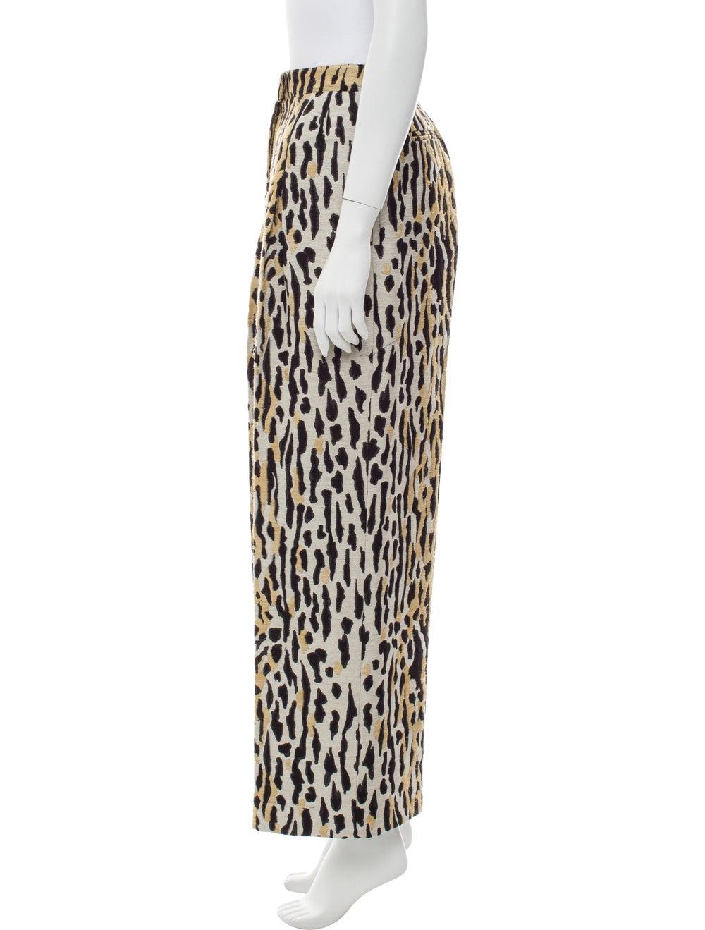 Valentino Animal Print Wide Leg Pants - image 2