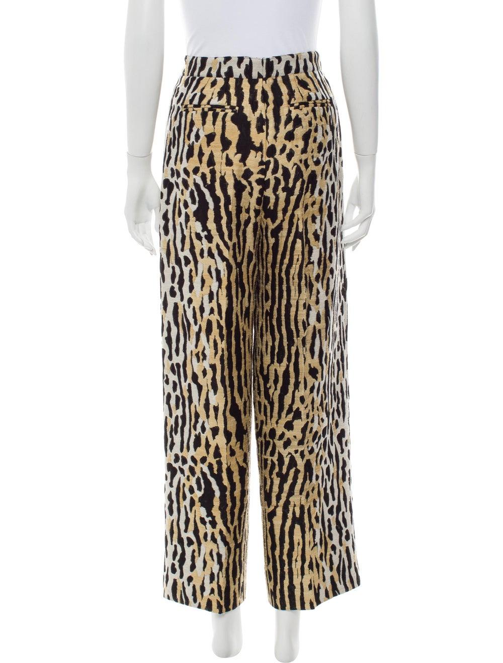 Valentino Animal Print Wide Leg Pants - image 3