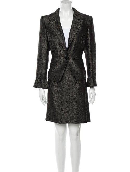 Valentino Wool Skirt Suit Wool