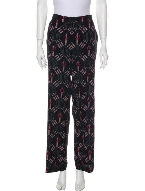 Valentino Silk Printed Pajamas Black