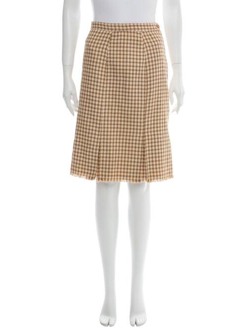 Valentino Vintage Knee-Length Skirt Wool
