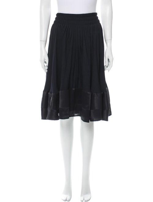 Valentino Silk Knee-Length Skirt Black