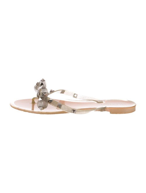Valentino Glitter Rockstud Sandals Silver