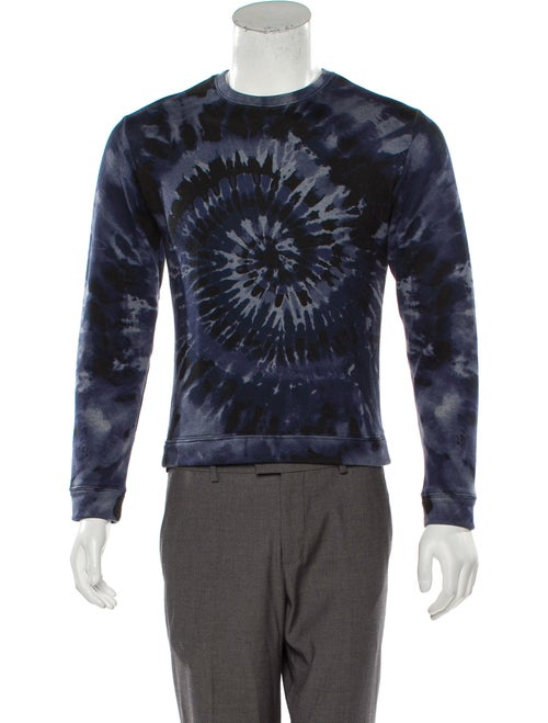 Valentino Tie Dye Crew Neck Sweatshirt blue