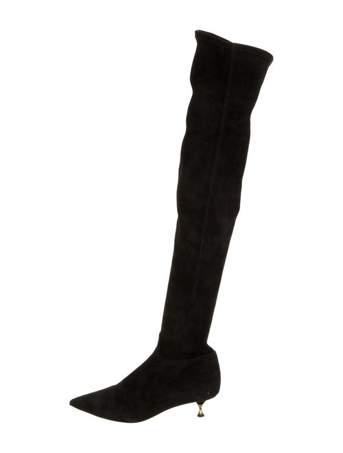 Valentino Suede Over-The-Knee Boots Black