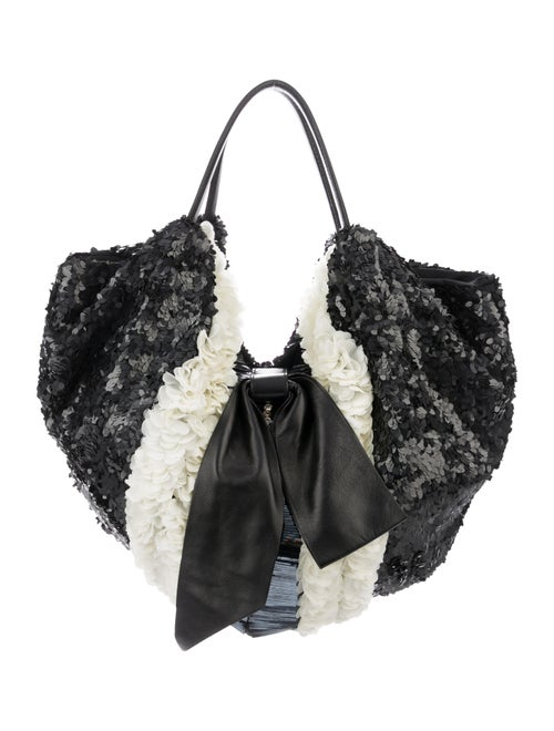 Valentino Shining Flower Hobo Black