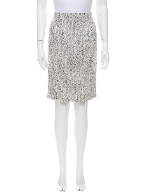 Valentino Tweed Pattern Knee-Length Skirt