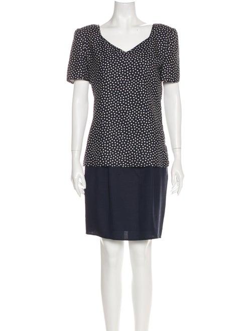 Valentino Polka Dot Print Skirt Set Blue
