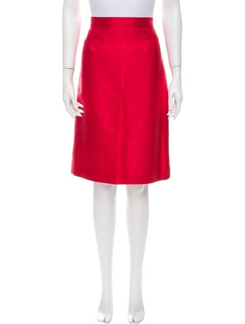 Valentino Knee-Length Skirt Red
