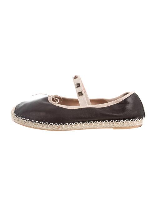 Valentino Rockstud Mary Jane Espadrilles Leather E