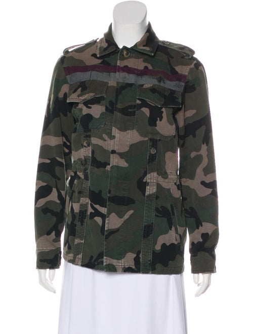 Valentino Camouflage Military Jacket Green