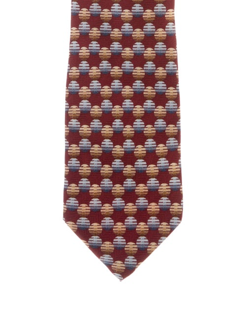 Valentino Silk Patterned Tie red