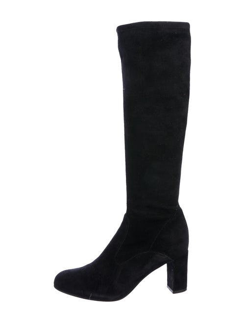 Valentino Suede Knee-High Boots Black