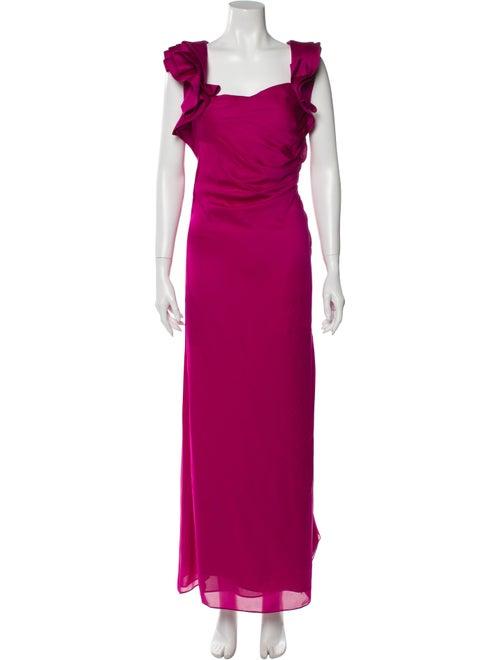 Valentino Silk Long Dress Pink