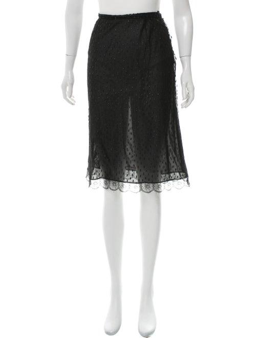Valentino Silk Tulle Skirt Black
