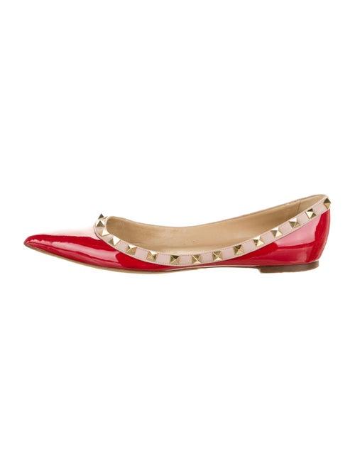 Valentino Rockstud Ballet Flats Red