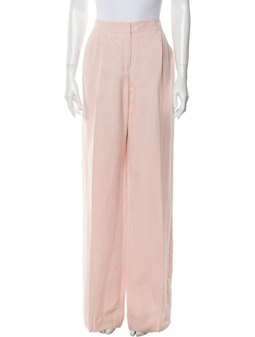 Valentino Linen Wide Leg Pants w/ Tags Pink