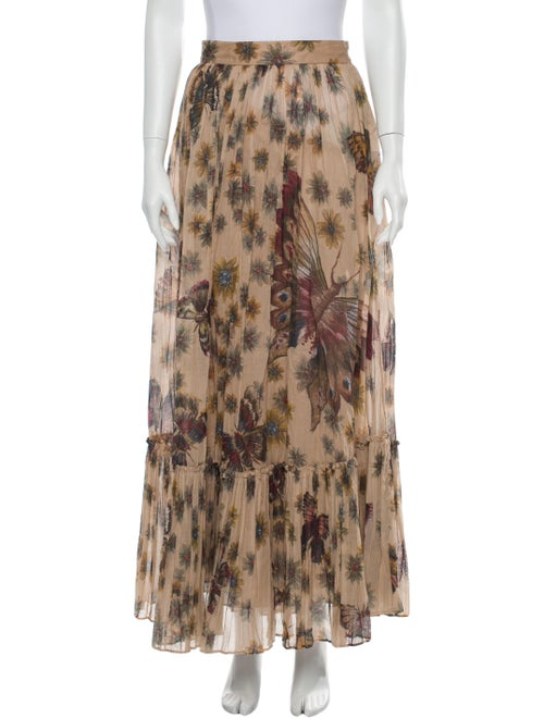 Valentino Floral Print Long Skirt