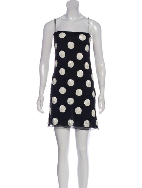Valentino Silk Sequin Dress Black