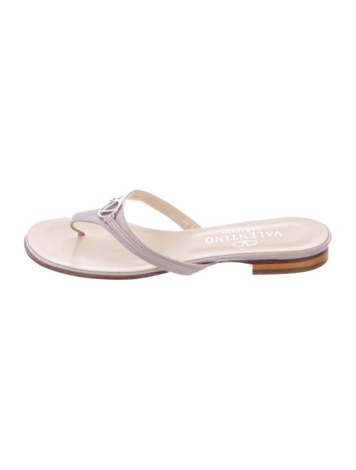 Valentino Leather Thong Sandals
