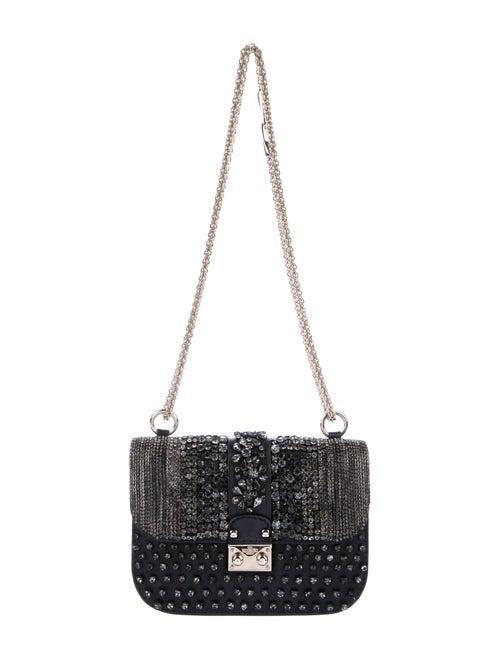 Valentino Embellished Glam Rock Bag Black