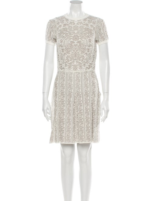 Valentino Lace Pattern Mini Dress