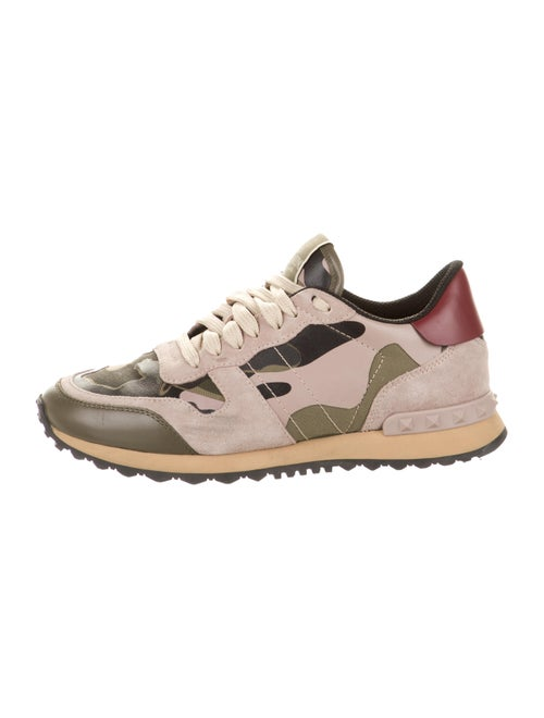 Valentino Rock Runner Camo Sneakers Rockstud Accen