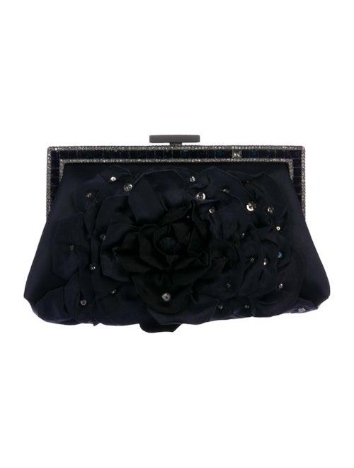 Valentino Embellished Satin Evening Clutch black