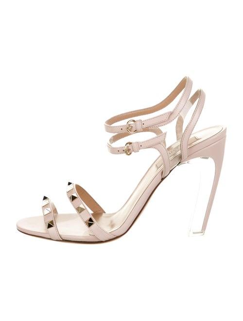 Valentino Rockstud PVC Sandals Clear