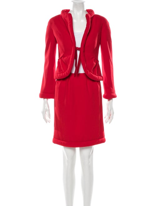 Valentino Skirt Suit Red