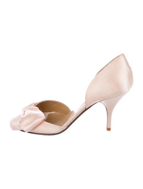 Valentino Satin d'Orsay Pumps Pink