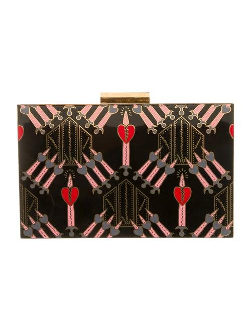 Valentino Graphic Box Clutch Black