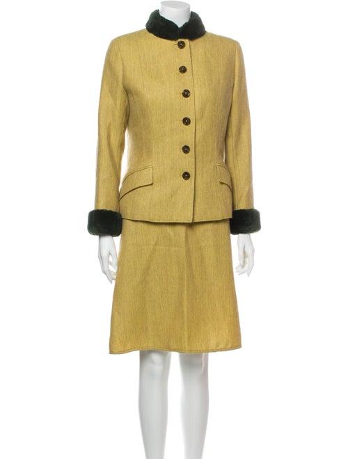 Valentino Skirt Suit Green