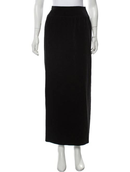 Valentino Suede Midi Skirt Black
