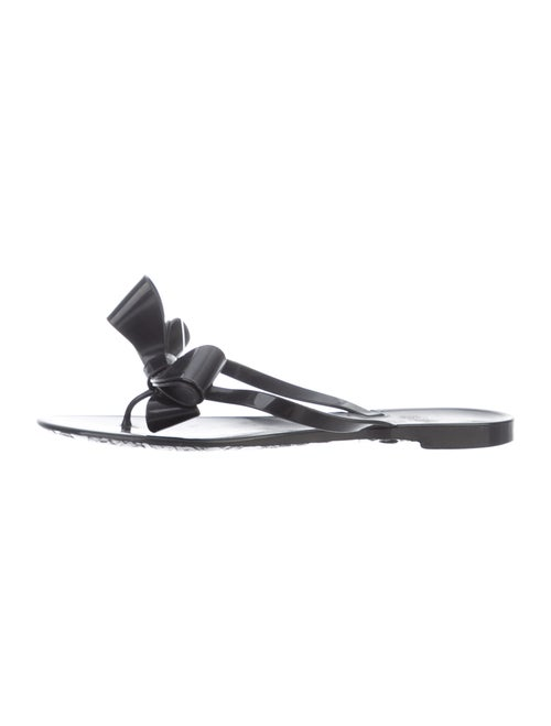 Valentino Bow Thong Sandals Black