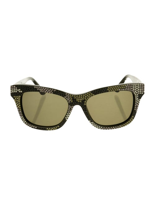 Valentino Embellished Tinted Sunglasses Green