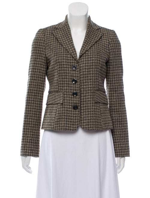 Valentino Wool Tweed Blazer Grey