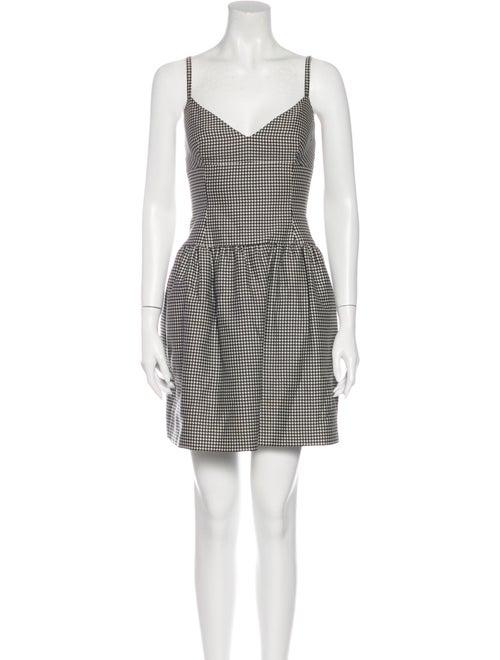 Valentino Houndstooth Print Mini Dress