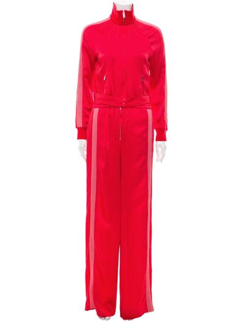 Valentino Mock Neck Jumpsuit Red