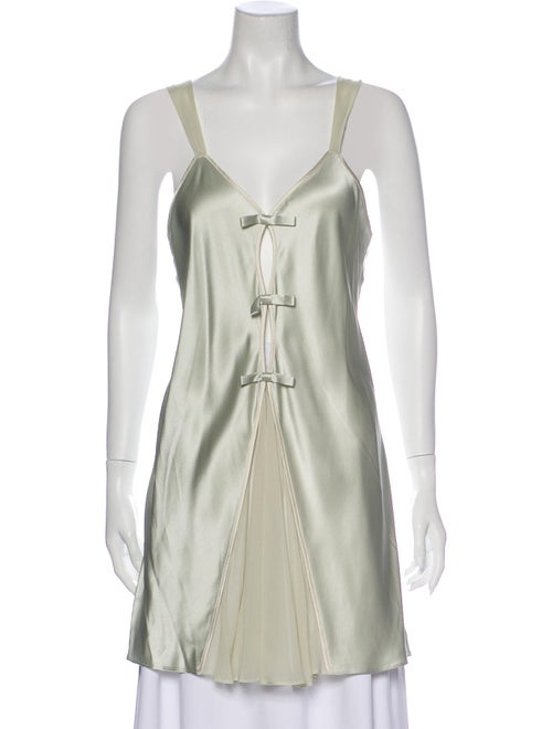 Valentino Silk Nightgown Green